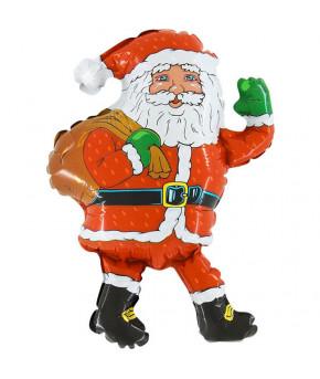 "Шар ""Дед Мороз"" с мешком красный, 32х81см"