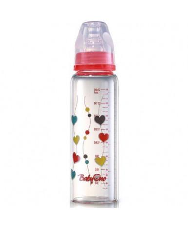 Бутылочка BabyOno из боро-кремниевого стекла 240мл
