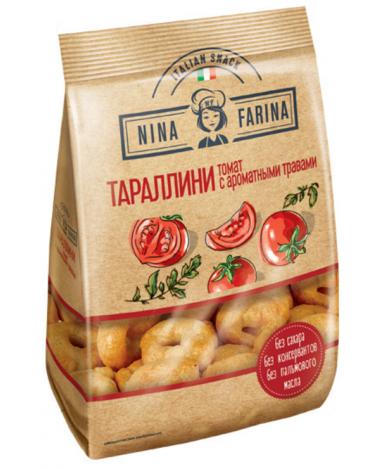 Гренки Тараллини с томатом и ароматными травами Nina Farina 180г