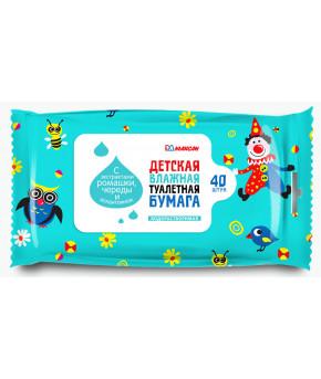 Влажная туалетная бумага Максан 40 шт