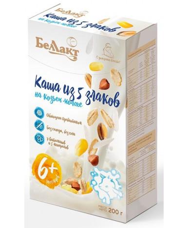 Каша Беллакт на козьем молоке из 5 злаков 200г