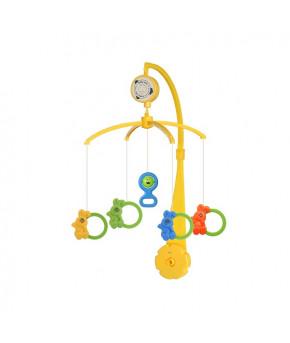 Каруселька BabyMix Кролики с пластиковыми игрушками