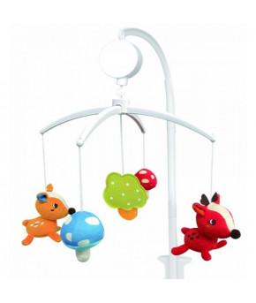 Каруселька BabyMix Олененок с плюшевыми игрушками