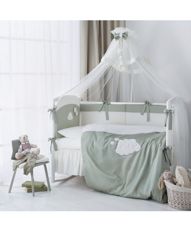 Комплект в кроватку Perina Бамбино олива 6пр