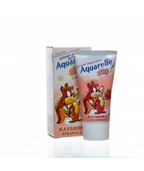 Зубная паста Aquarelle Kids клубника 50мл