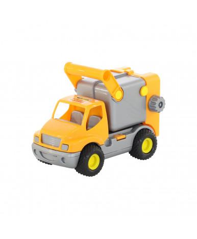 Автомобиль-коммунальный Полесье КонсТрак оранжевый (в сеточке)