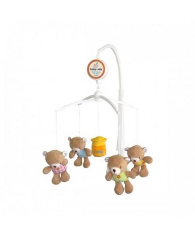 Каруселька BabyMix с плюшевыми игрушками TK/788М