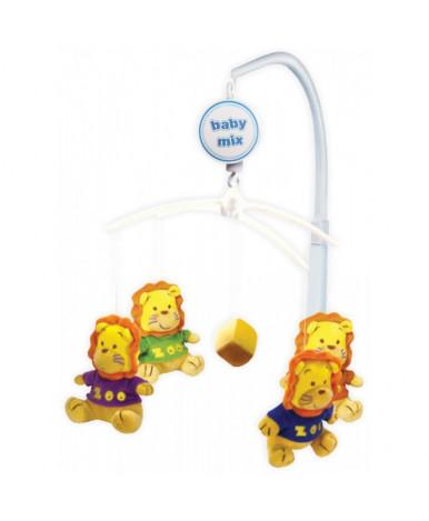 Каруселька BabyMix с плюшевыми игрушками, Львята