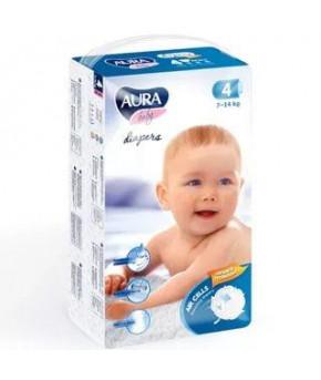 Подгузники AURA baby 4L (7-14 кг) 12 шт