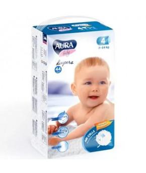 Подгузники AURA baby 4L (7-14 кг) 44 шт