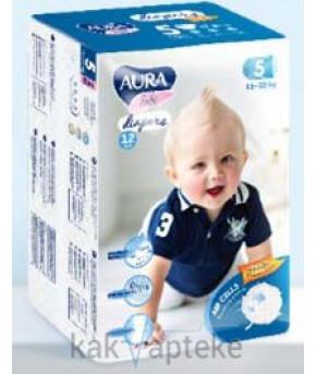 Подгузники AURA baby 5XL (11-25 кг) 12 шт