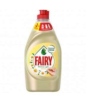 Средство для мытья посуды Fairy нежные руки Ромашка и витамин Е 450мл