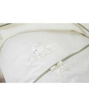 Комплект в кроватку Perina Le petit bebe молочно-оливковый 3 пр