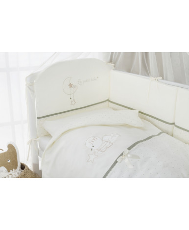 Комплект в кроватку Perina Le petit bebe молочно-оливковый 3пр