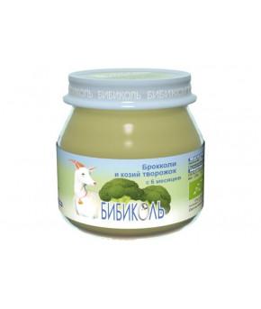 """Органическое овоще-молочное пюре """"Бибиколь"""" Брокколи и козий творожок 80г"""