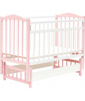 Кровать детская Bambini Classic 11, белый/розовый