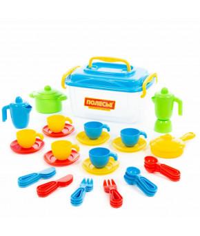 Набор детской посуды на 6 персон (38 элементов) (в контейнере)