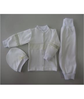 Набор для крещения ( кофта+брюки+шапка) р.62