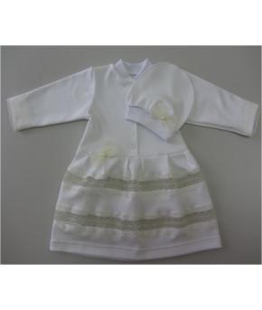 Набор для крещения ( платье+шапка) р.62