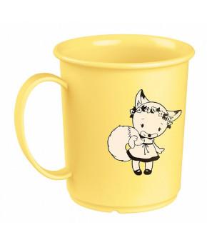 Кружка Пластишка детская с декором желтый 180мл, 12+