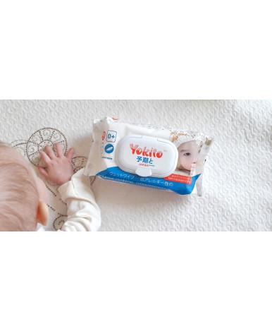 Салфетки влажные Yokito без отдушки детские с пластиковым клапаном 80шт