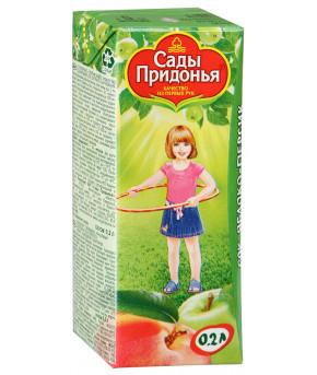 Сок Сады Придонья яблоко и персик 200мл