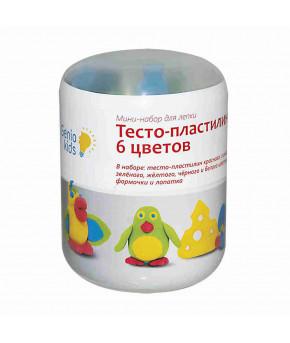 Набор для лепки Genio Kids Тесто-пластилин 6 цветов