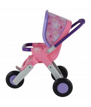 Коляска для кукол Полесье №2 прогулочная 3-х колёсная,в пакете