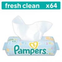 """Салфетки влажные """"Pampers"""" Baby Fresh Clean Quatro 64шт"""