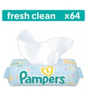 Салфетки влажные Pampers Baby Fresh Clean Quatro 64шт