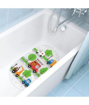 Коврик для ванны Valiant Машинки 69х39см