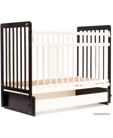 Кровать детская Bambini Euro Style 05, темный орех