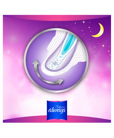 Прокладки женские Always Ultra Platinum Night ультратонкие 22шт