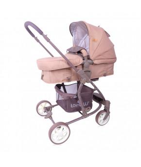 Детская коляска 2 в 1 Lorelli Aster Beige Brown Lines