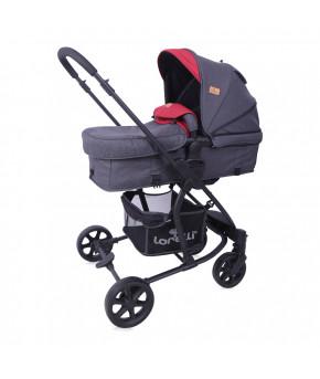 Детская коляска 2 в 1 Lorelli Aster Black Red