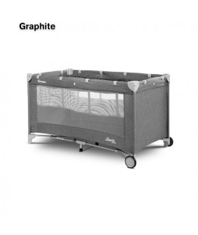 Кровать-манеж Caretero basic plus graphite