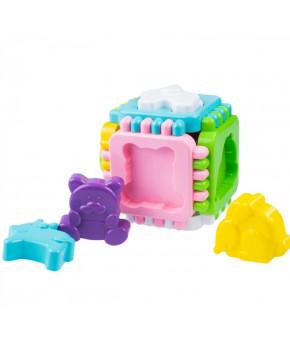 Развивающая игрушка-сортер Fancy Кубик Логический