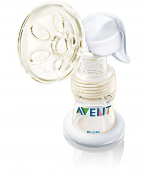 Молокоотсос ручной Avent с бутылочкой