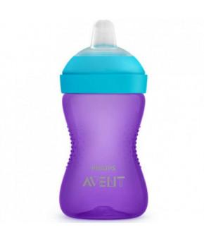 Поильник Avent непроливающий с мягким носиком фиолетовый 300мл, 9+