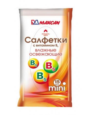 "Салфетки влажные ""MINI"" с витамином B5, 15 шт."
