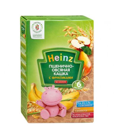 Каша Heinz пшенично-овсяная с фруктами безмолочная 200г