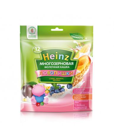 Каша Heinz любопышки мультизлаковая слива абрикос черника мягкая упаковка 200г