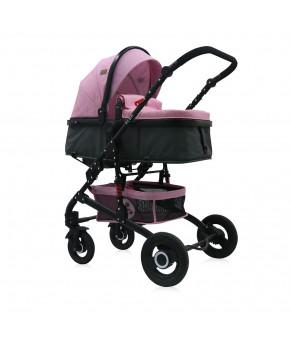 Модульная коляска 2 в 1 Lorelli Alba Pink
