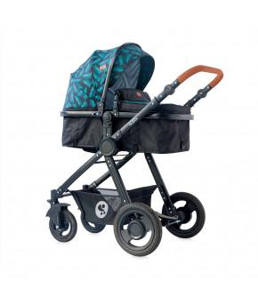 Детская коляска 2  в 1 Lorelli Alexa  Black Leaves