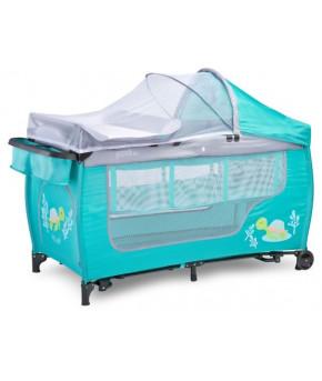 Кровать-манеж Caretero Grande Plus мятный