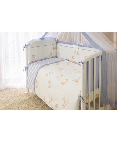 Комплект в кроватку Perina Тиффани неженка голубой 3пр