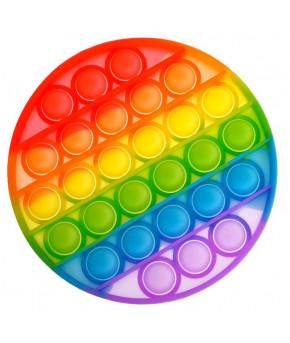 Игрушка-антистресс Вечная пупырка Круг, радуга