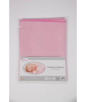 Пеленка-клеенка Фея оконтованная 68*100см розовая