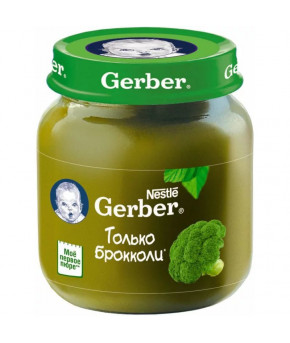 Пюре Gerber брокколи 130г