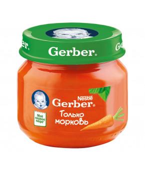 """Пюре """"Gerber"""" морковь, 80гр"""